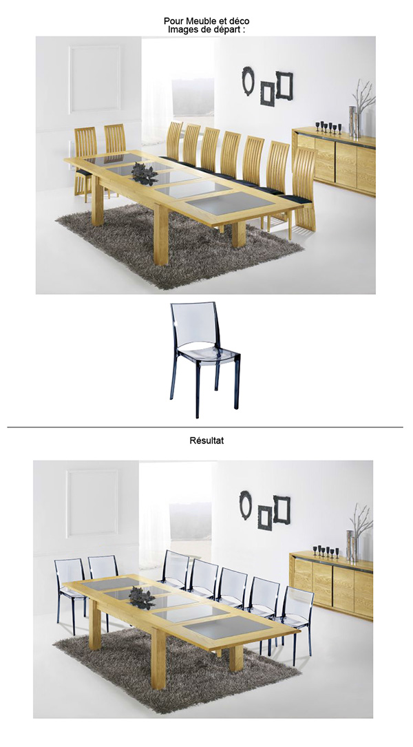 Infographiste Freelance - Photomontage - table et chaise